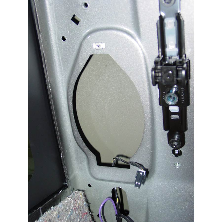 2014 GMC Sierra 2500/3500 Rear side panel speaker removed
