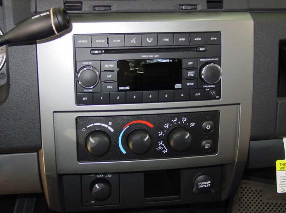 Radio on Dodge Dakota Dash Kit