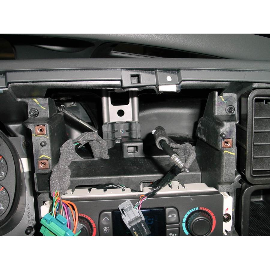 2004 GMC Sierra 2500/3500 Factory radio removed