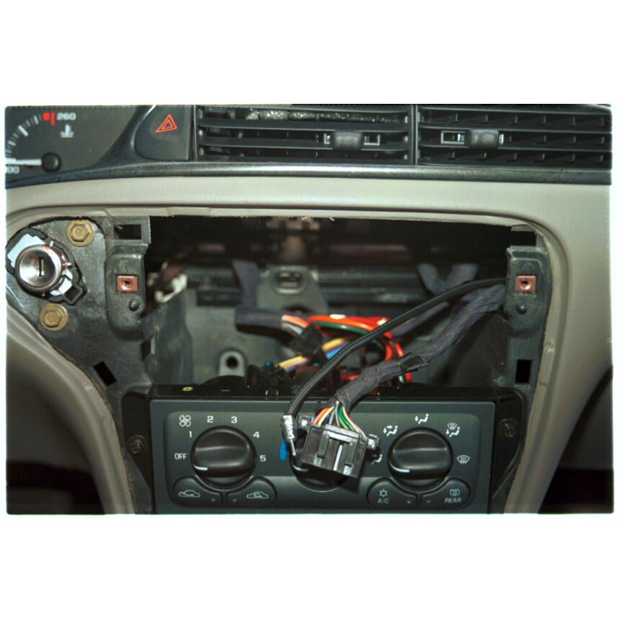 2000 Chevrolet Malibu Factory radio removed