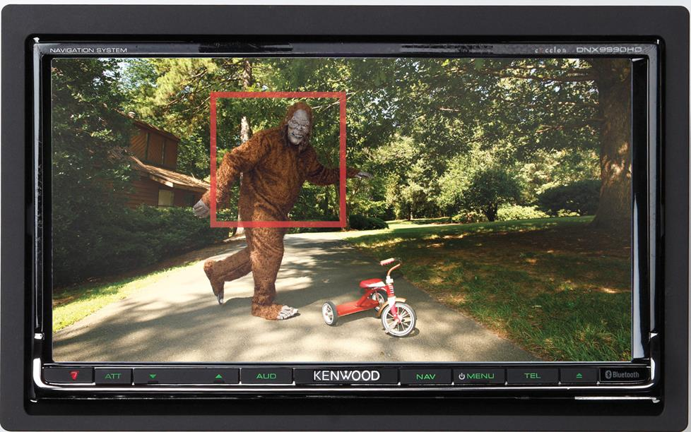 Bigfoot caught on the Kenwood Excelon DNX9990HD