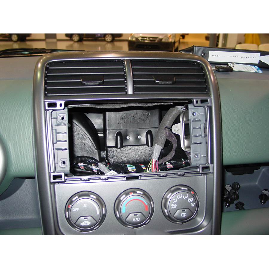 2005 Honda Element Factory radio removed