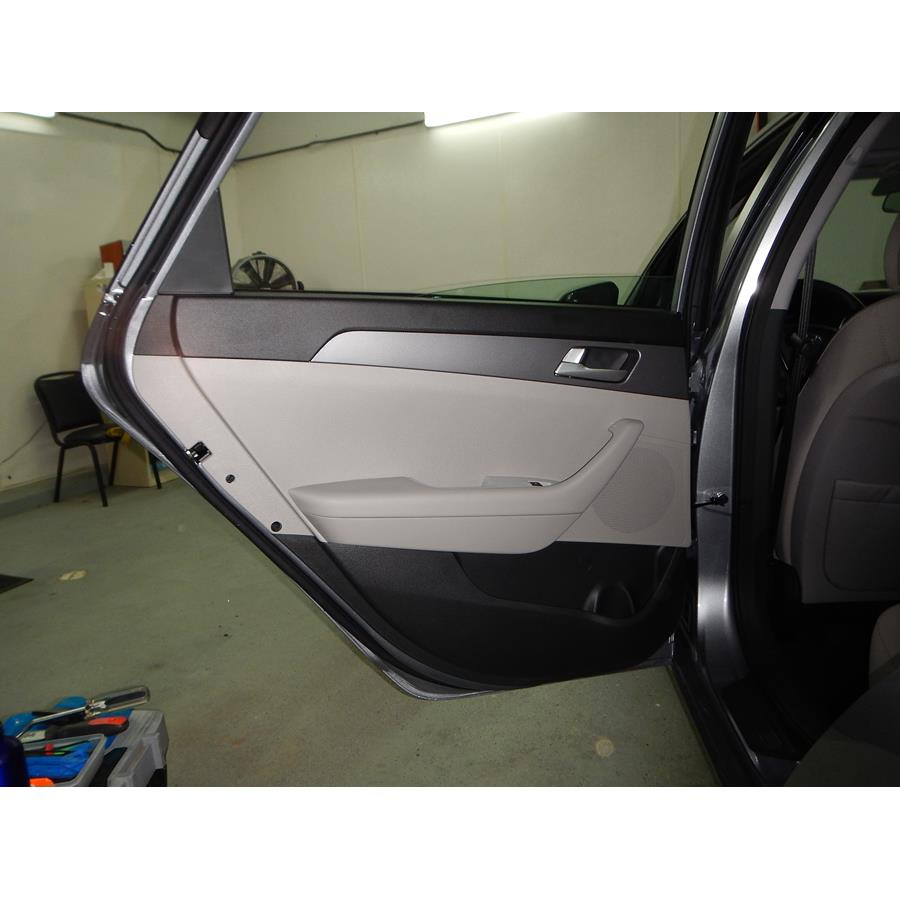 2017 Hyundai Sonata Hybrid Rear door speaker location