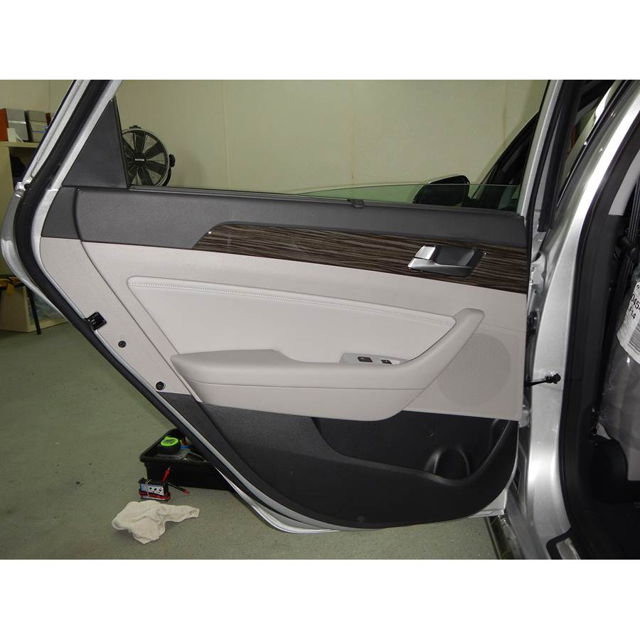 2015 Hyundai Sonata ECO Rear door speaker location