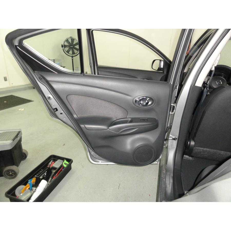 2014 Nissan Versa SV Rear door speaker location