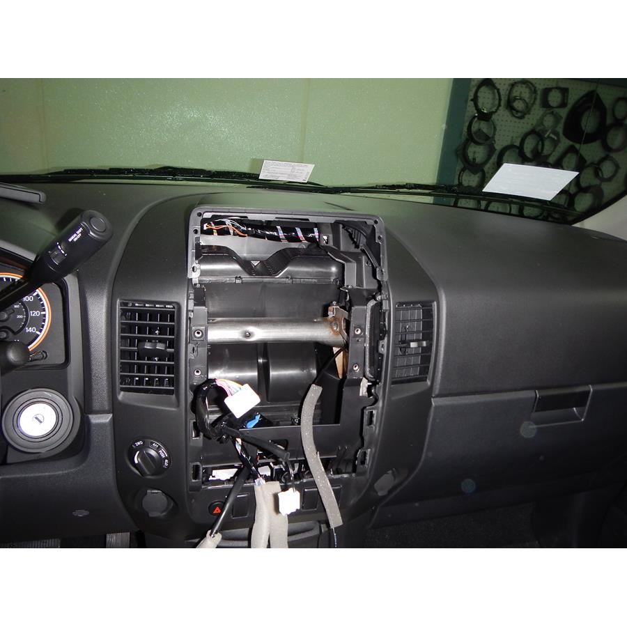 2014 Nissan Titan S Factory radio removed