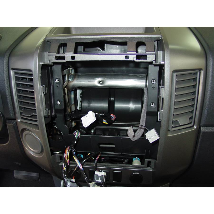 2009 Nissan Titan Factory radio removed