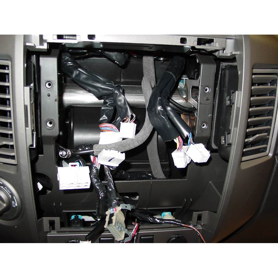 2011 Nissan Titan Factory radio removed