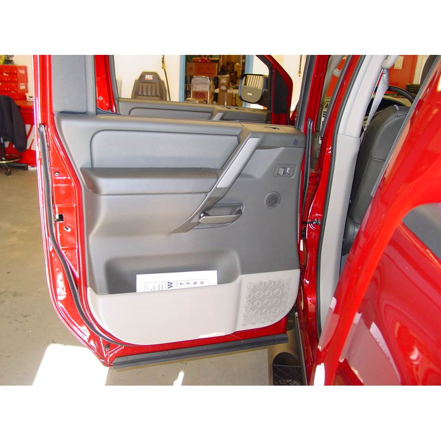 2009 Nissan Titan Rear door speaker location