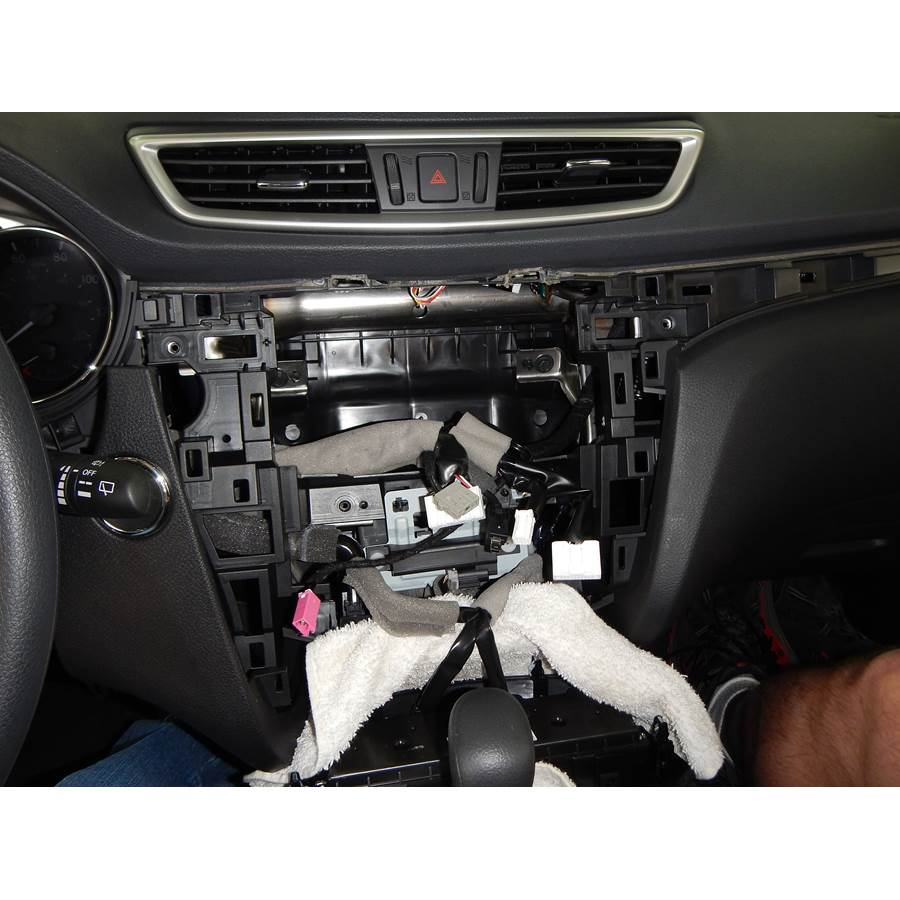 2014 Nissan Rogue Factory radio removed