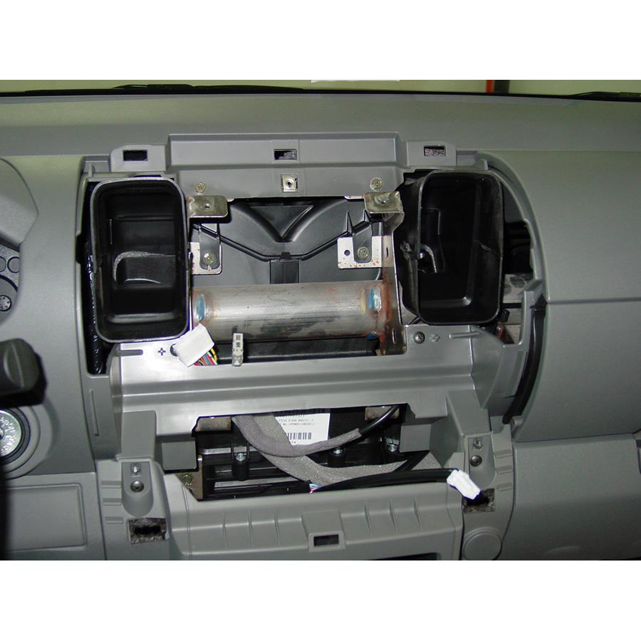 2010 Nissan Frontier LE Factory radio removed