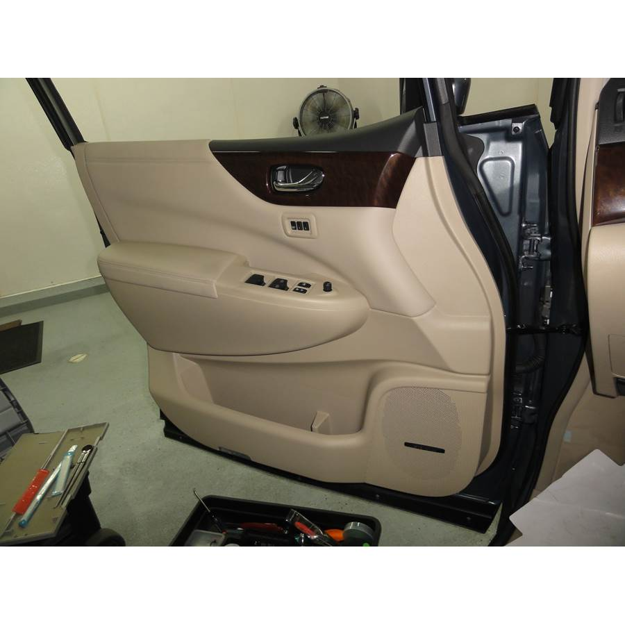 2013 Nissan Quest Front door speaker location