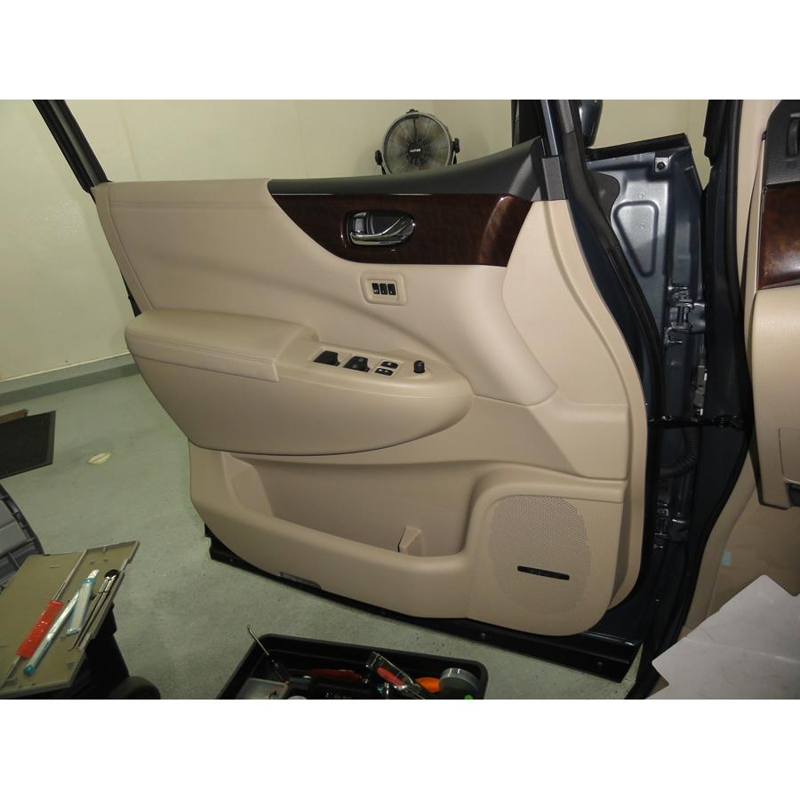 2016 Nissan Quest Front door speaker location