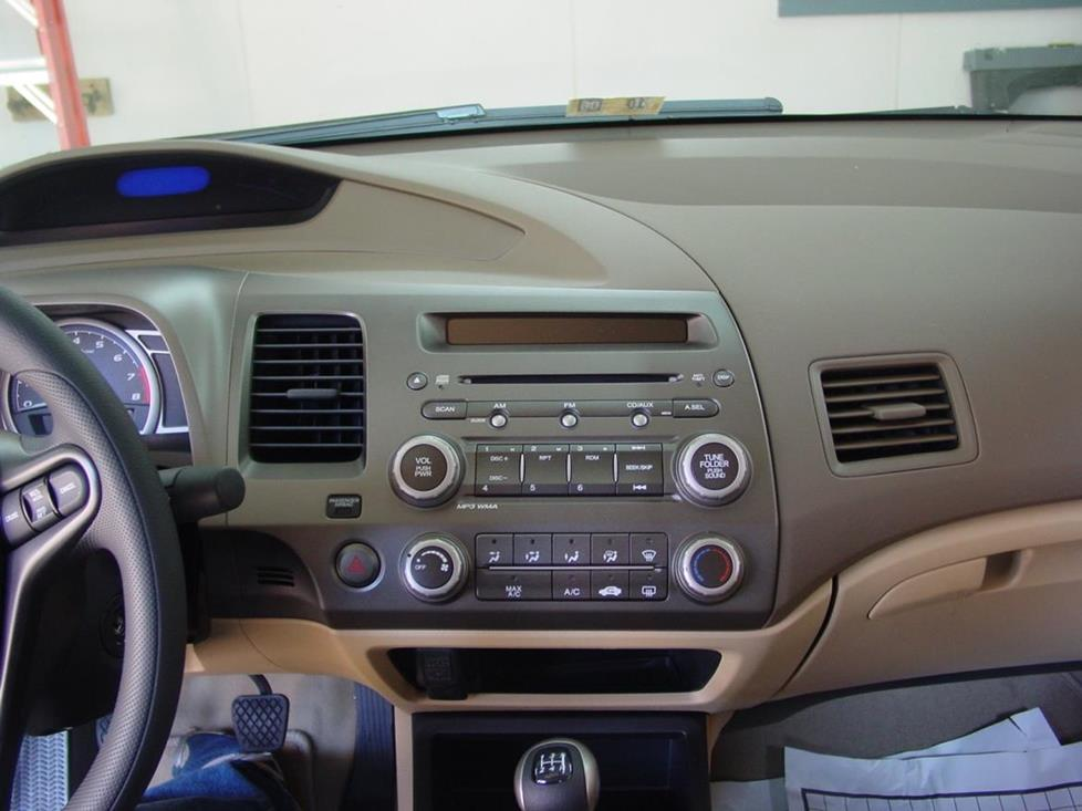 The Honda Civic's stereo (Crutchfield Research Photo)
