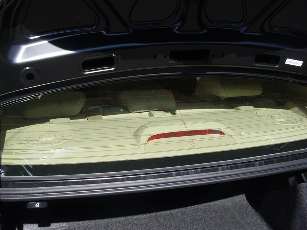 Honda Civic rear deck (Crutchfield Research Photo)