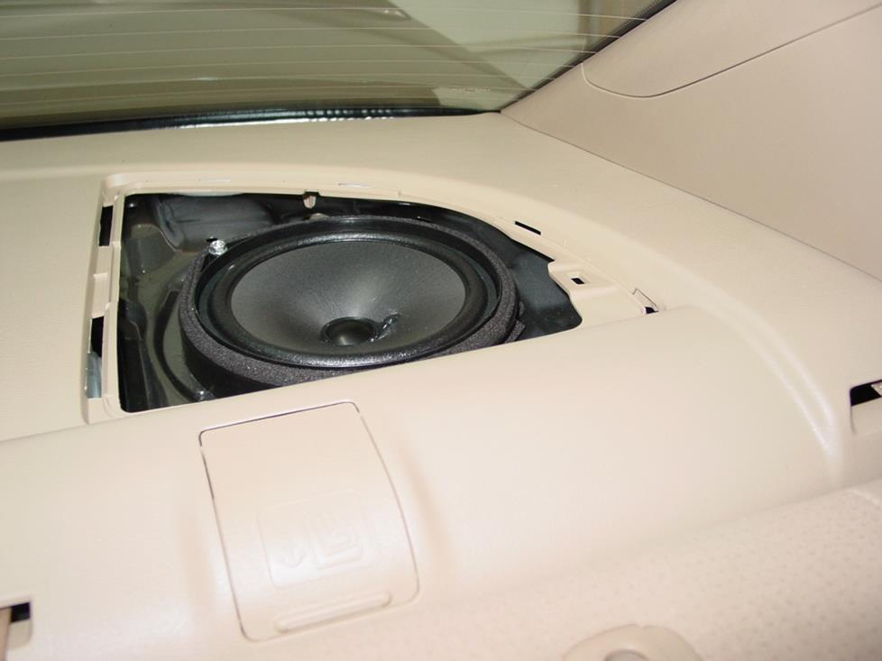 Honda Civic sedan rear speaker (Crutchfield Research Photo)