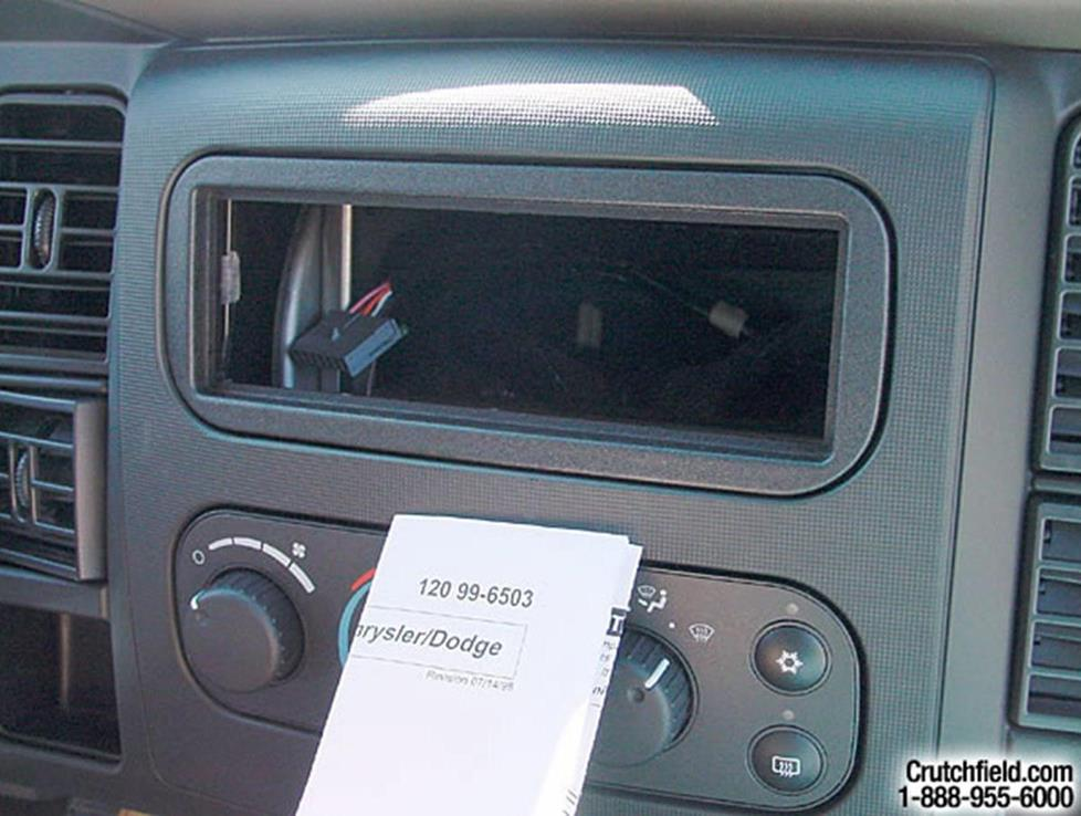 2002 2005 dodge ram 1500 quad cab car audio profile stereo mounting kit for the 2002 ram 1500 crutchfield research photo