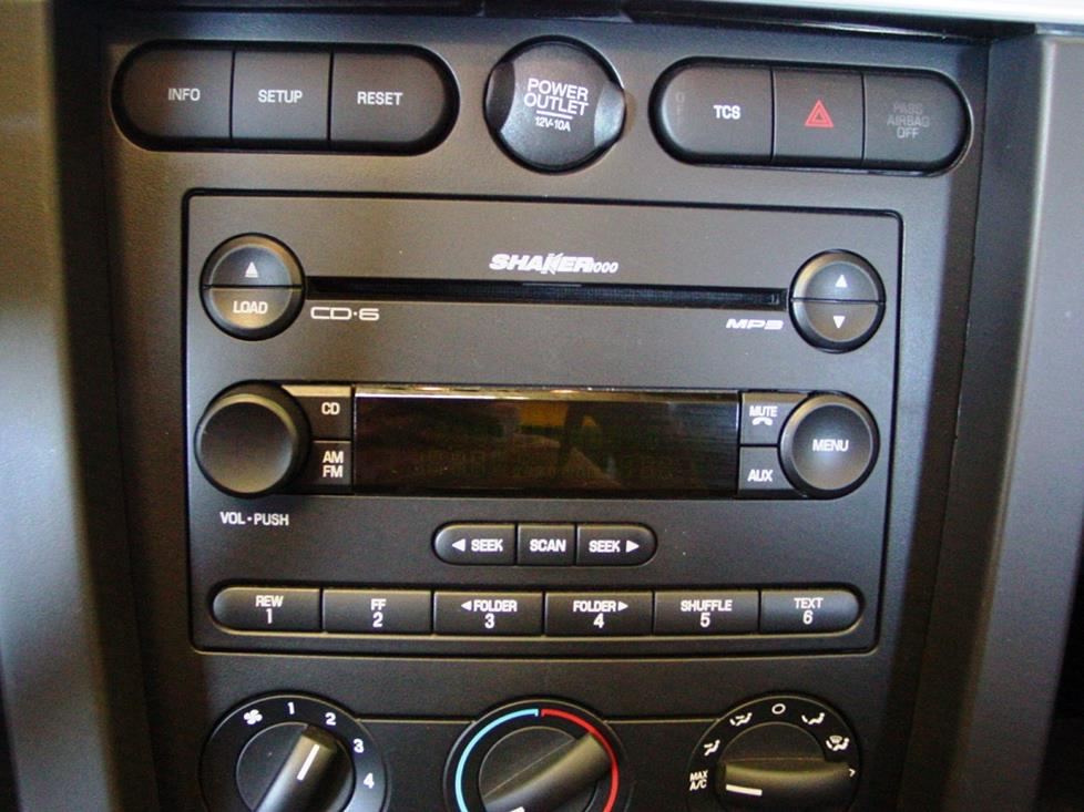 Mustang Shaker system stereo (Crutchfield Research Photo)