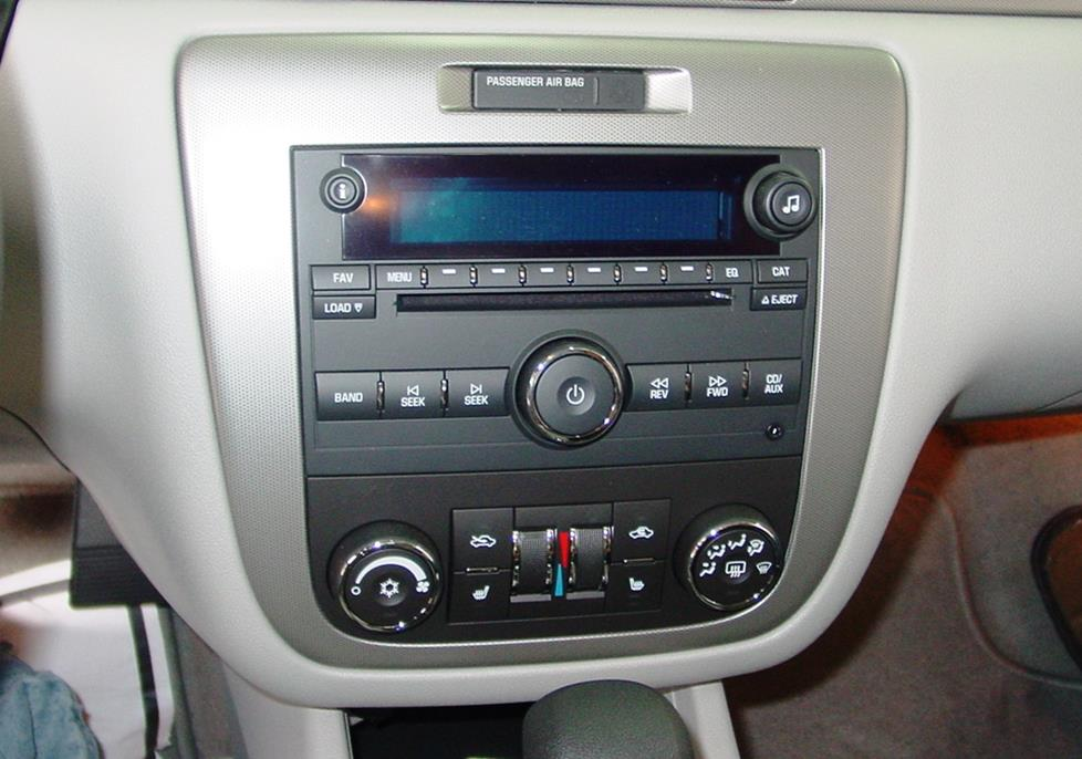 The Impala's factory radio (Crutchfield Research Photo)