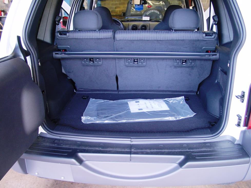 Jeep Liberty cargo area