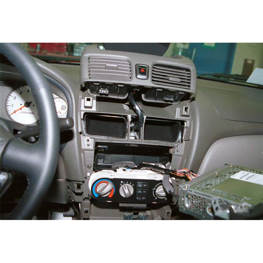2002 Nissan Sentra Factory radio removed