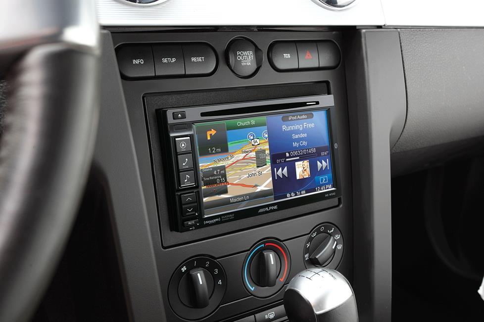 Navigation receiver in dash