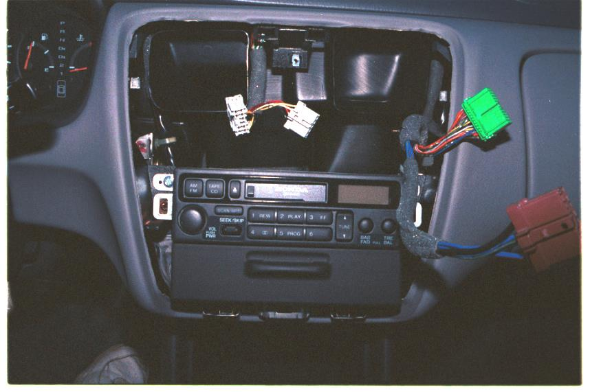 honda accord dash disassembled