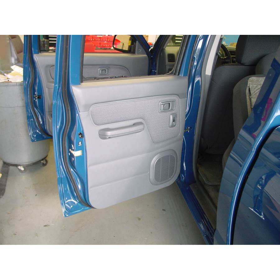 2003 Nissan Frontier Rear door speaker location