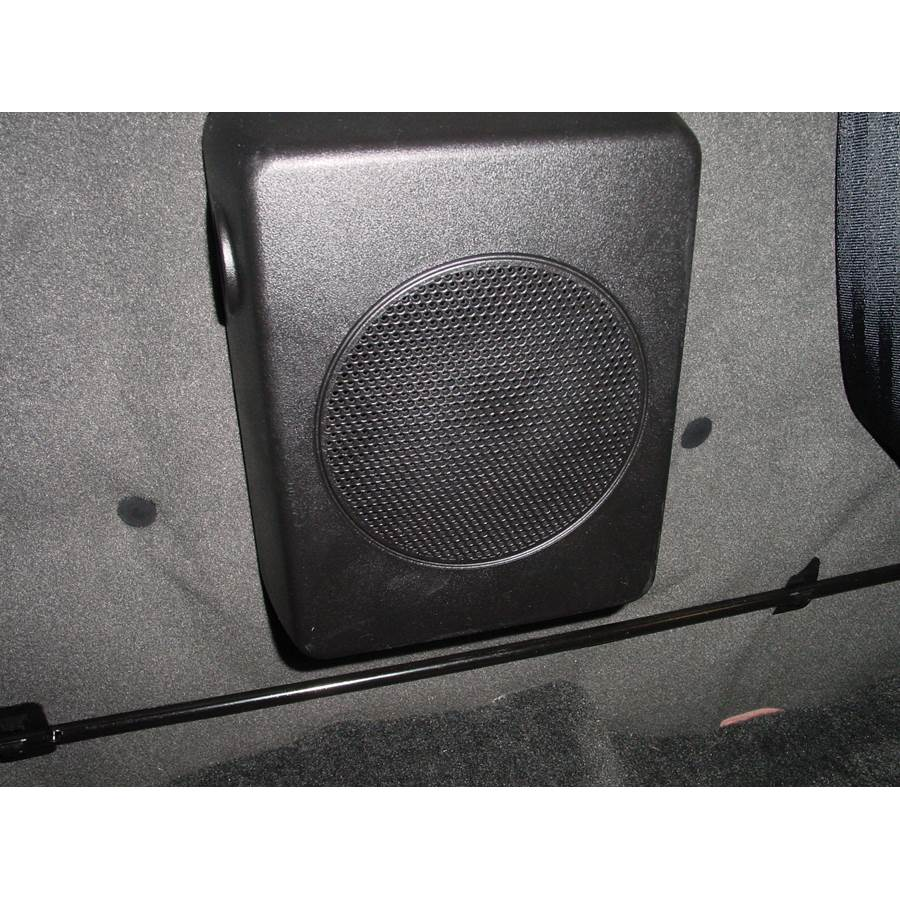 2003 Nissan Frontier Factory subwoofer location