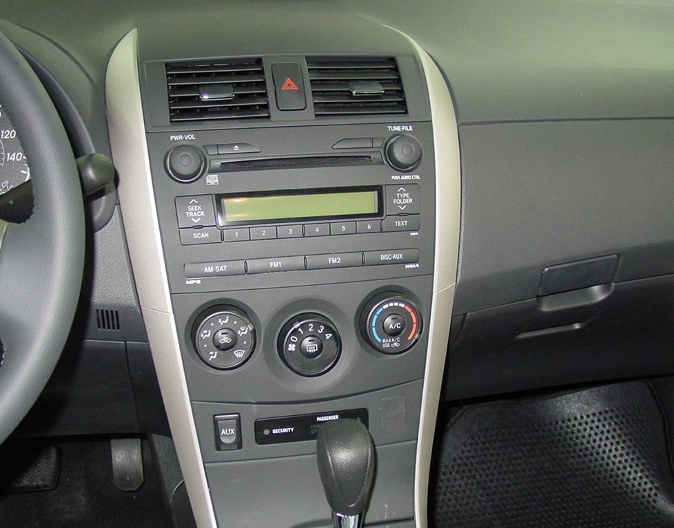 toyota corolla car audio profile