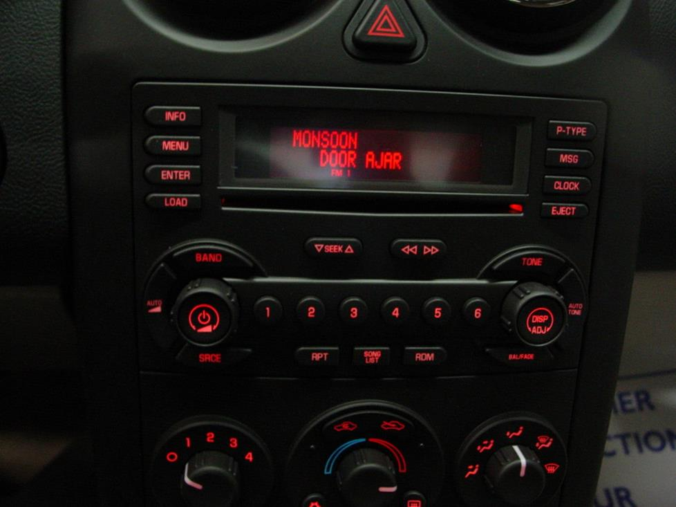 2005-2010 Pontiac G6 Car Audio Profile on