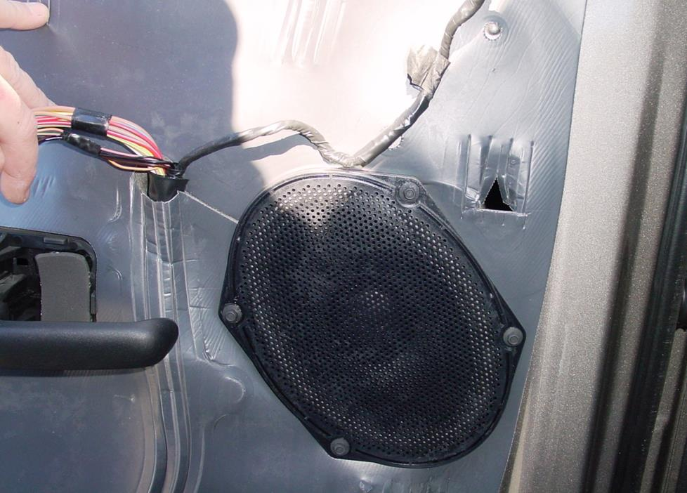 Ford Explorer front door speaker in standard system