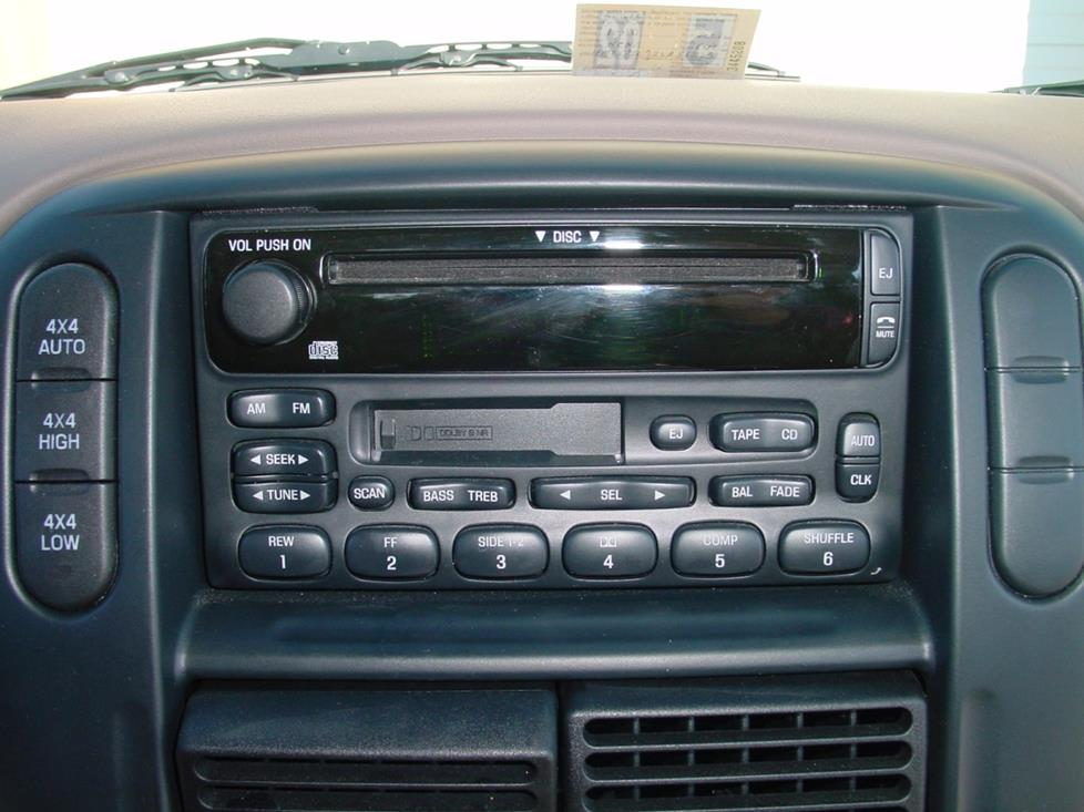 Ford Explorer factory radio