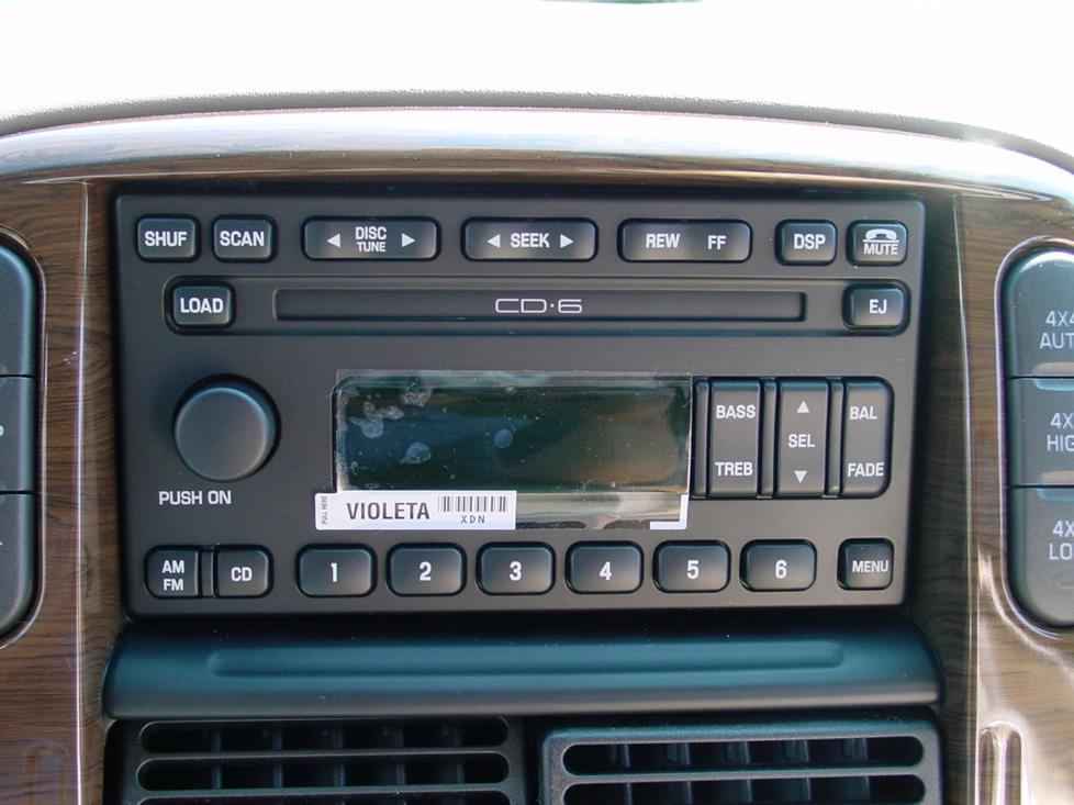 Ford Explorer Mach radio