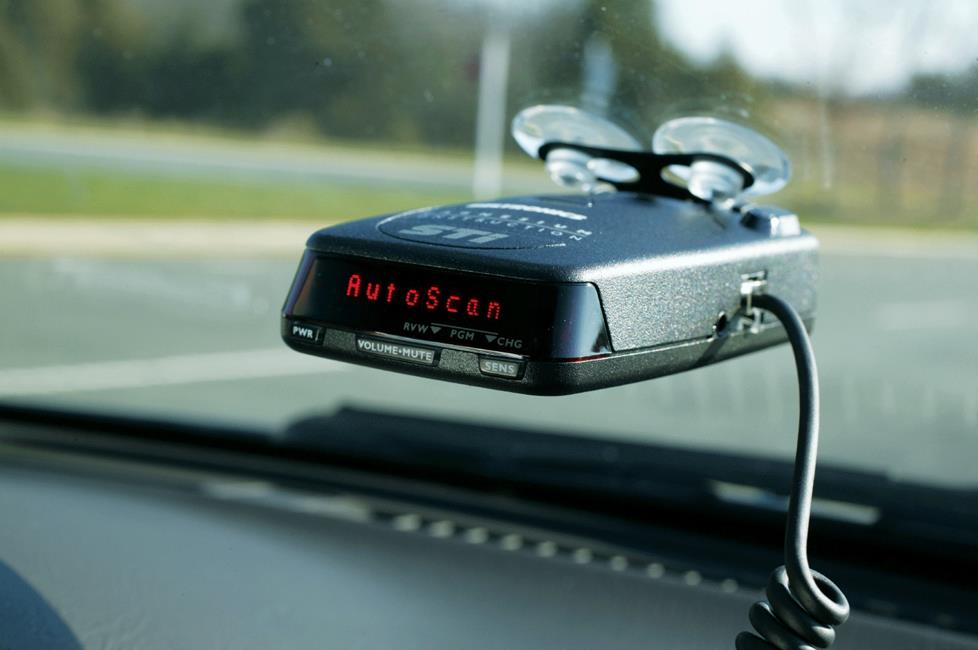Radar detector in windshield