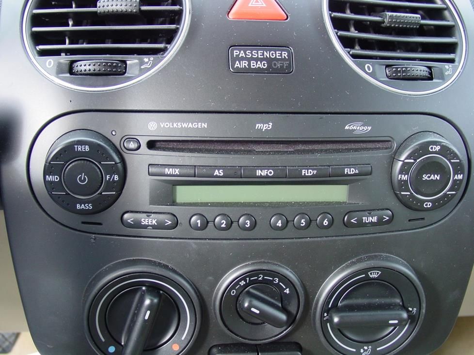 vw beetle monsoon stereo