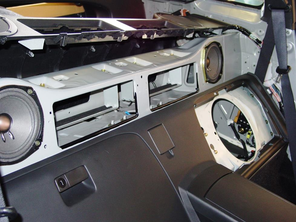 350Z rear deck speakers