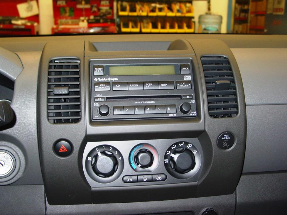 2005 2012 nissan xterra car audio profile nissan xterra rockford fosgate stereo in 2005 08 models