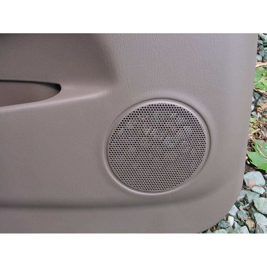 2001 Toyota 4Runner Rear door speaker location