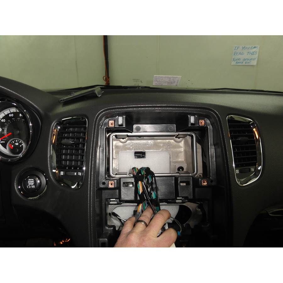 2011 Dodge Durango Factory radio removed