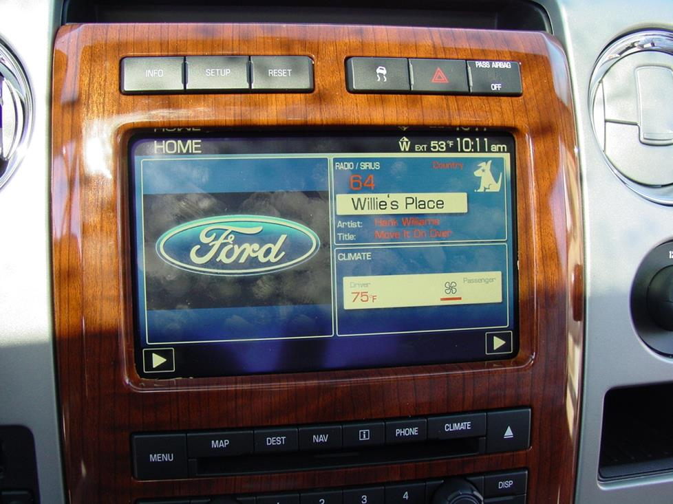 Ford F-150 SuperCrew nav receiver