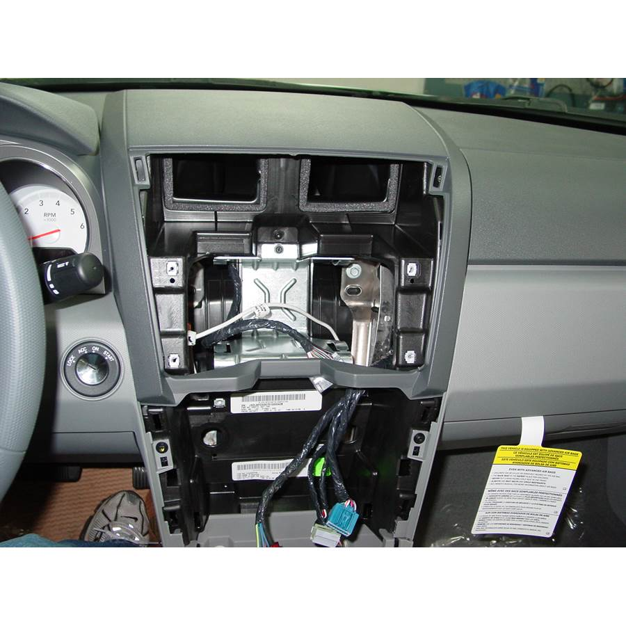 2009 Dodge Avenger Factory radio removed