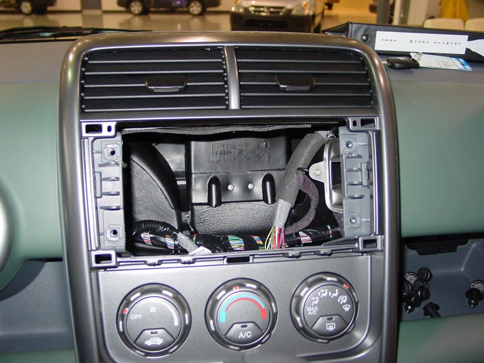 Honda Element factory radio cavity