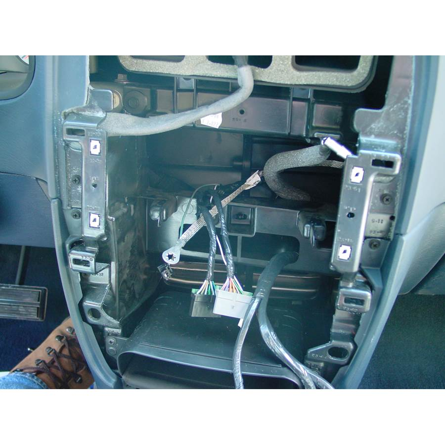 2007 Dodge Caravan Factory radio removed