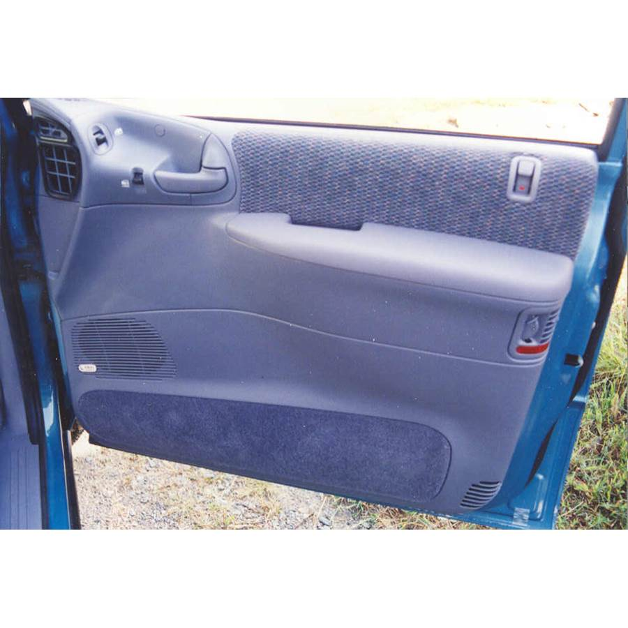 1997 Dodge Caravan Front door speaker location