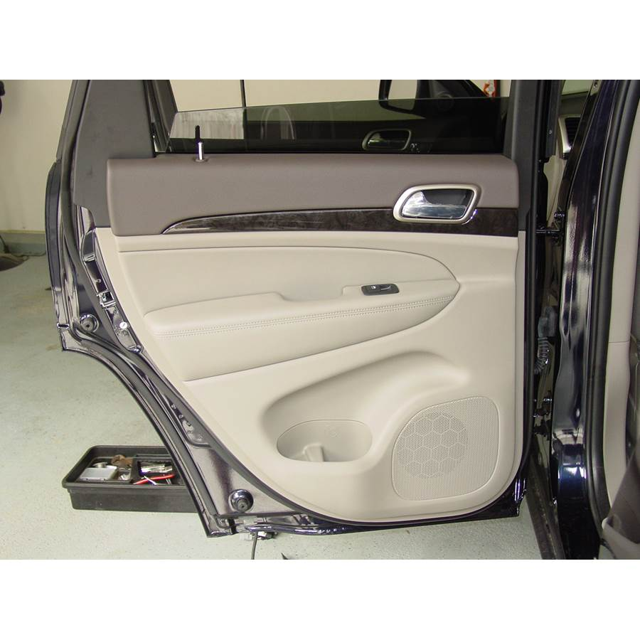 2012 Jeep Grand Cherokee Rear door speaker location