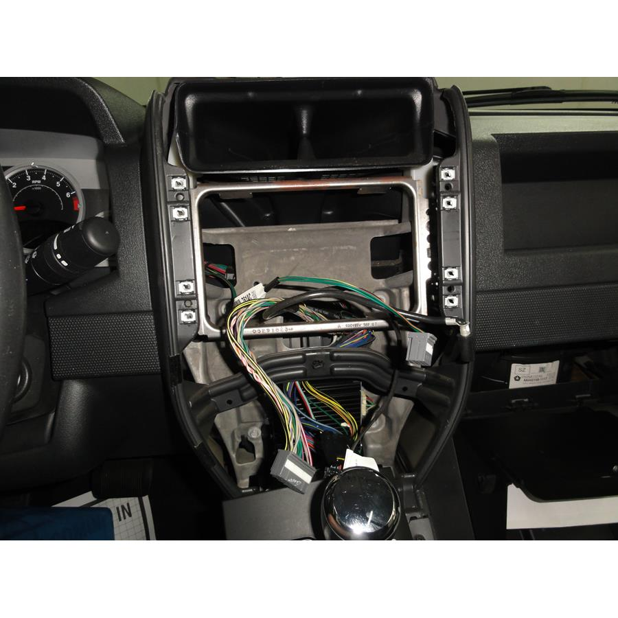 2008 Jeep Patriot Factory radio removed