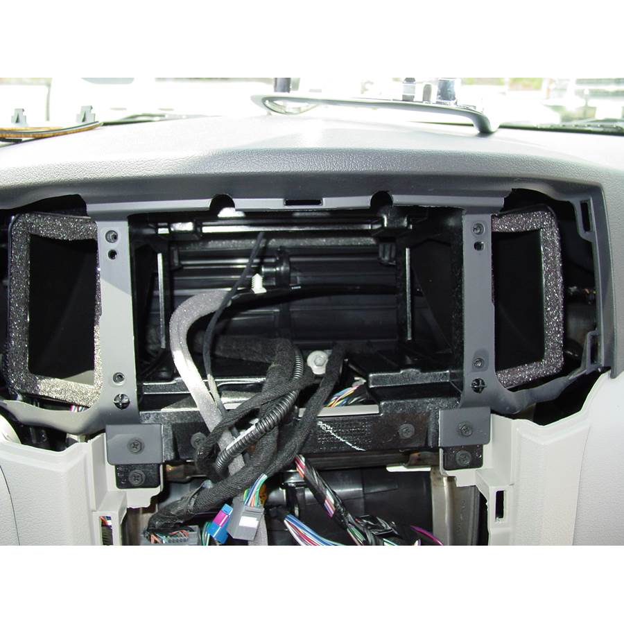 2009 Jeep Grand Cherokee Factory radio removed