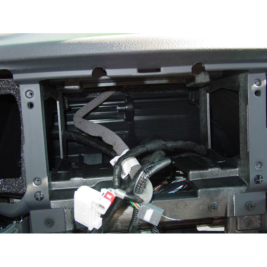 2008 Jeep Grand Cherokee Factory radio removed