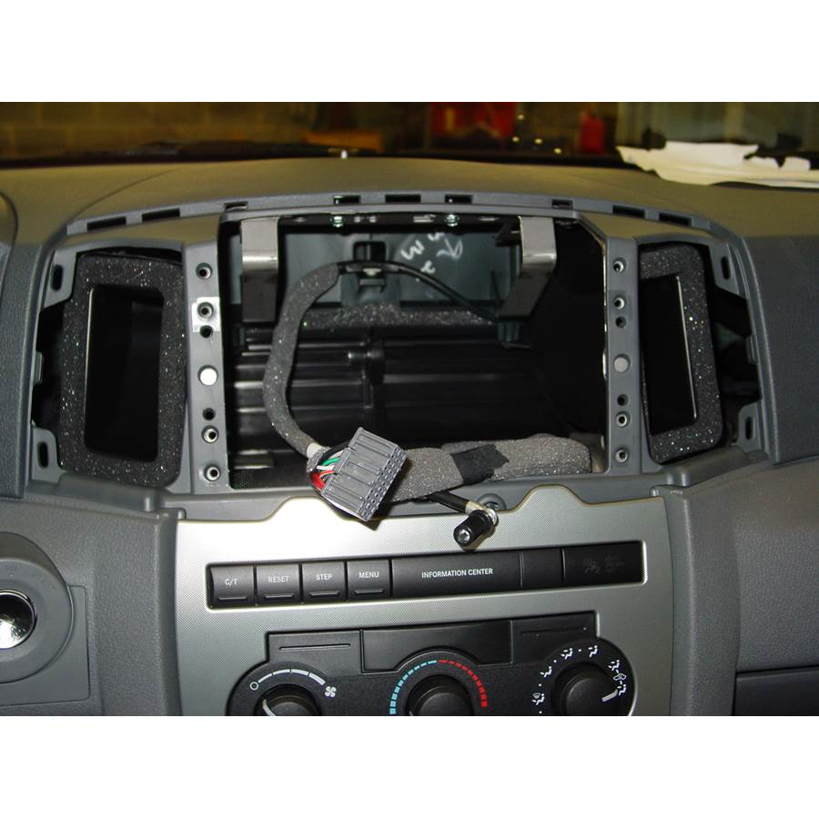 2005 Jeep Grand Cherokee Factory radio removed